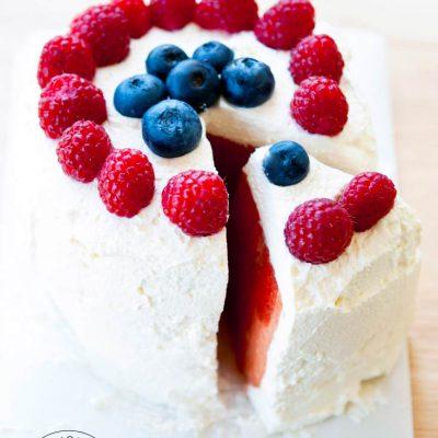 Clean Eating Watermelon Cake Recipe