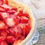Clean Eating Glazed Fresh Strawberry Pie Recipe