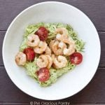 Clean Eating Shrimp Zucchini Pasta With Avocado Alfredo Sauce