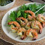 Clean Eating Paleo Chimichurri Grilled Shrimp