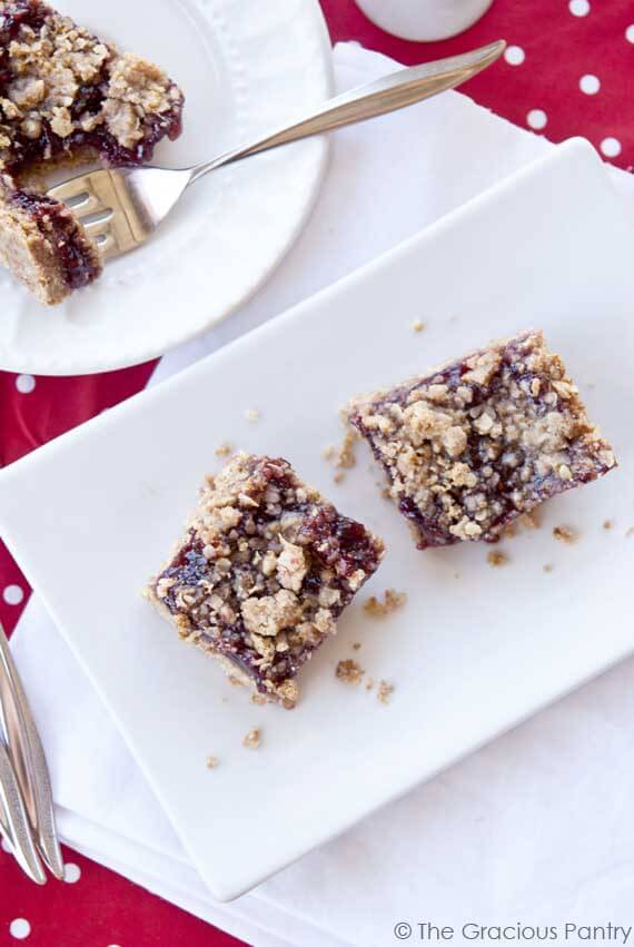 Clean Eating Raspberry Crumb Bars
