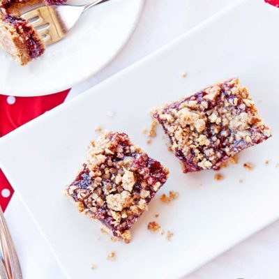 Clean Eating Raspberry Crumb Bars Recipe