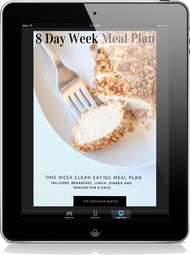 8 Day Week Meal Plan