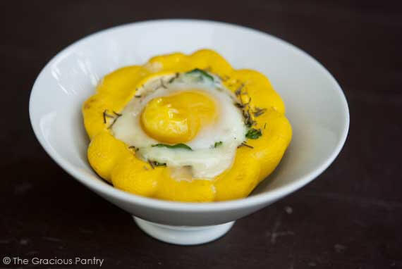 Clean Eating Baked Star Squash & Eggs Recipe