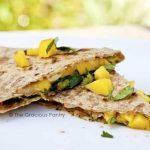 Clean Eating Mango and Cilantro Quesadillas