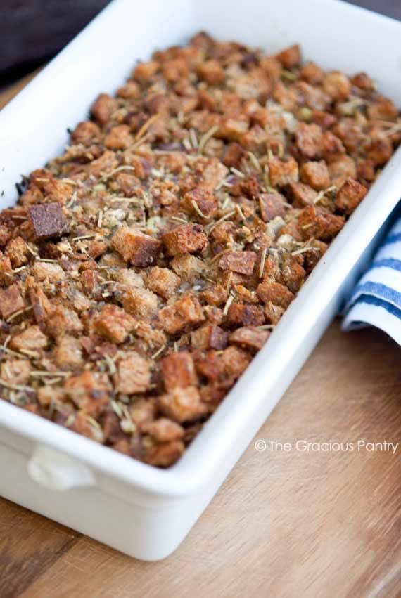 Clean Eating Thanksgiving Crouton Stuffing Recipe