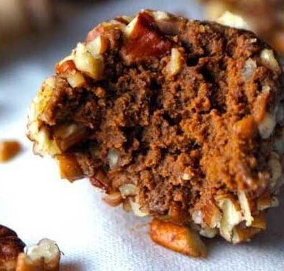 Clean Eating Pumpkin Spice Pecan Truffles Recipe