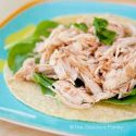 Clean Eating 2 Ingredient Slow Cooker Taco Chicken