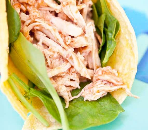 Clean Eating 2 Ingredient Slow Cooker Taco Chicken Recipe