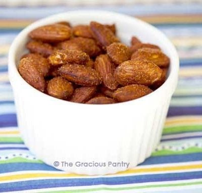 Clean Eating Spicy Roasted Almonds Recipe