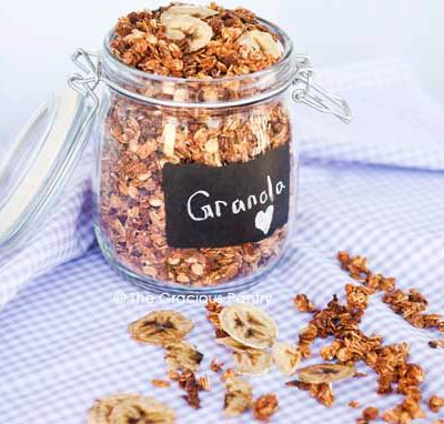 Clean Eating Banana Granola Recipe
