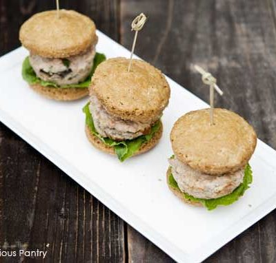 Clean Eating Buttered Mushroom Stuffed Sliders