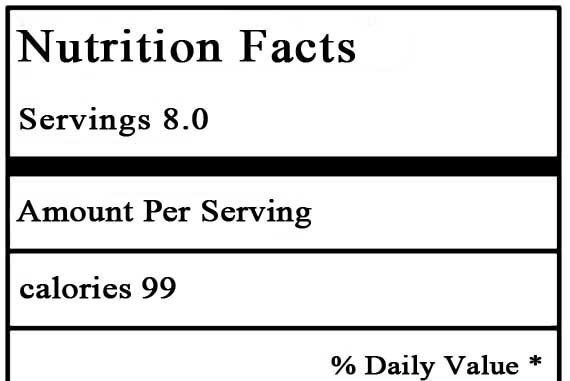 Low Carb Clean Eating nutrition label