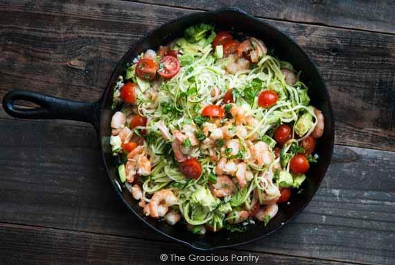 Clean Eating Shrimp Zoodles Recipe