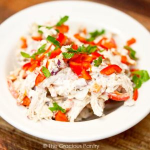 Clean Eating Low Carb Southwestern Chicken Salad Recipe