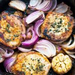 Clean Eating Roasted Garlic And Onion Pork Chops Recipe