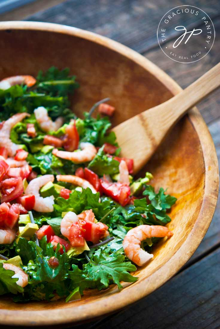 Clean Eating Shrimp And Kale Salad