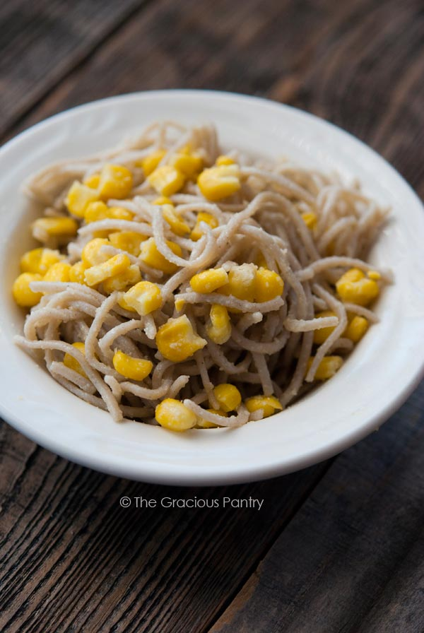 Clean Eating Corn And Parmesan Soba Noodles
