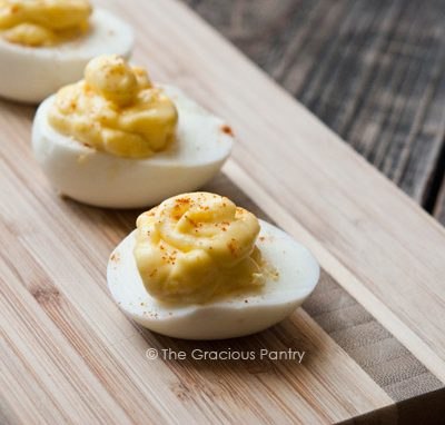 Clean Eating 3 Ingredient Deviled Eggs