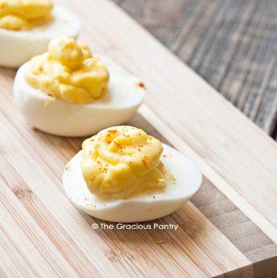 Clean Eating 3 Ingredient Deviled Eggs