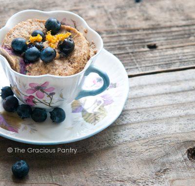 Clean Eating Blueberry Lemon Mug Cake