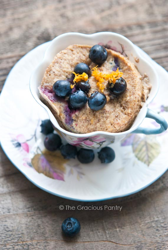 Clean Eating Blueberry Lemon Mug Cake