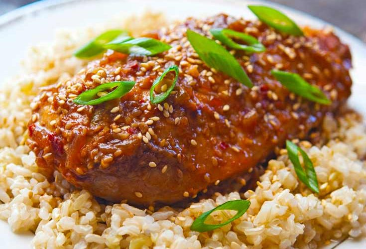 Clean Eating Slow Cooker Honey Sesame Chicken Recipe