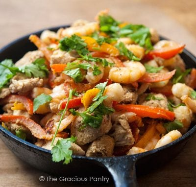 Clean Eating Barbecued Southwestern Chicken And Shrimp Skillet Recipe