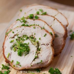 Clean Eating Barbecued Fresh Herb And Apple Turkey Breast Roulade