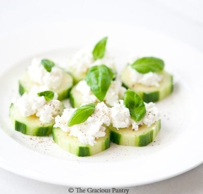 Clean Eating Cucumber Bites With Sheep Feta