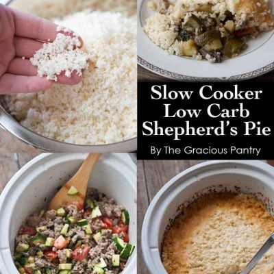 Clean Eating Slow Cooker Lower Carb Shepherd's Pie Recipe