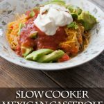 Clean Eating Slow Cooker Mexican Casserole Recipe
