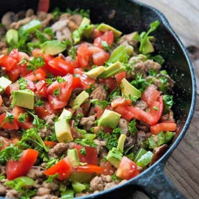 Clean Eating Garden Vegetable Turkey Skillet Recipe