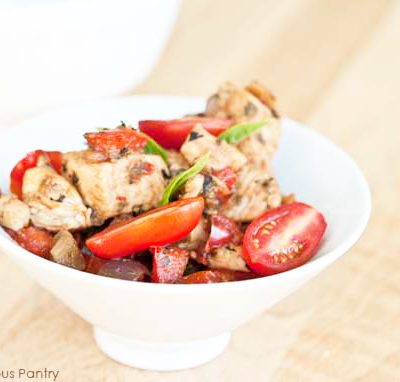 Clean Eating Red Vegetable Chicken Skillet Recipe