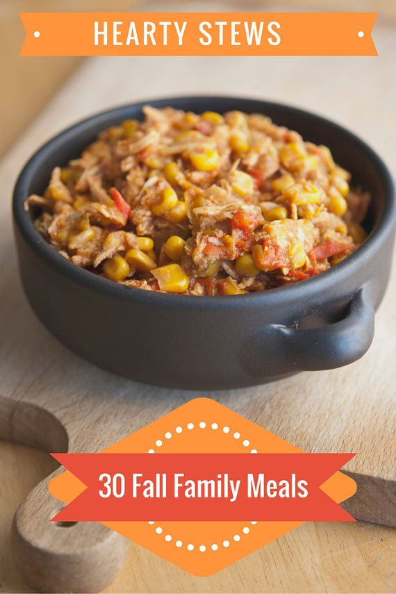 One image of clean eating tortilla chicken stew from this list of 30 Clean Eating Fall Family Meals