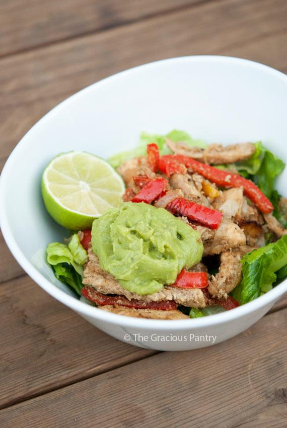 Clean Eating Fajita Salad Recipe