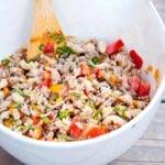Clean Eating Turkey Vegetable Pasta Scramble Recipe