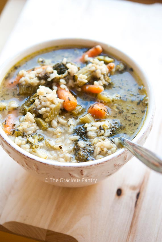 Clean Eating Roasted Leftover Vegetable Party Tray Soup Recipe