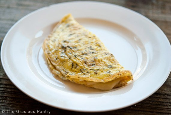 Clean Eating One Egg Omelet Recipe The Gracious Pantry