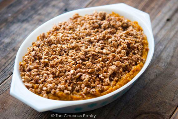 Clean Eating Butternut Squash Casserole Recipe In Serving Dish