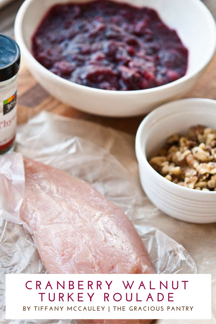Step 1 on how to make this Clean Eating Cranberry Walnut Pesto Roulade Recipe