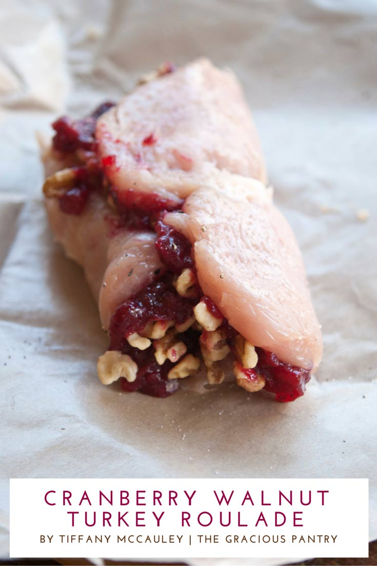 Step 5 on how to make this Clean Eating Cranberry Walnut Pesto Roulade Recipe