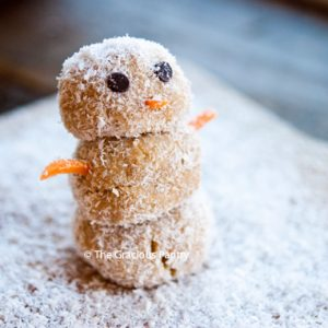 Clean Eating Energy Ball Snowmen