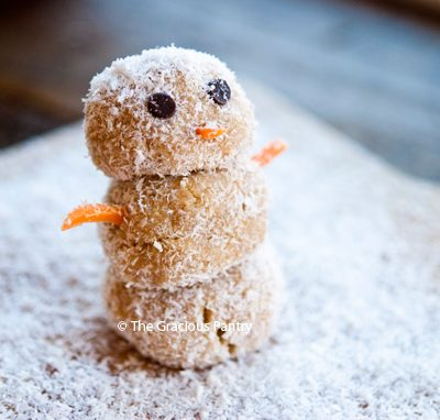 Clean Eating Energy Ball Snowmen Recipe