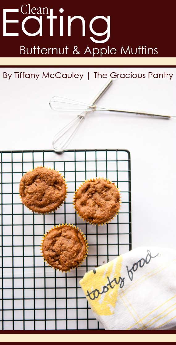 Clean Eating Butternut Squash & Apple Muffins Recipe