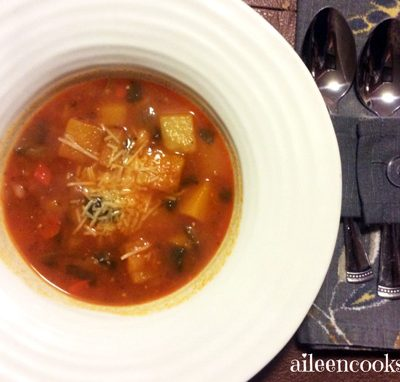 Butternut Minestrone Soup Recipe