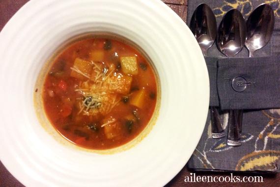 Clean Eating Butternut Minestrone Soup Recipe