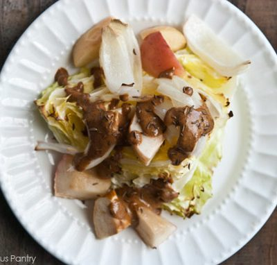 Clean Eating Roasted Cabbage Wedge & Apple Salad Recipe
