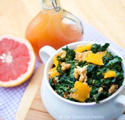Clean Eating Spring Kale & Orange Salad Recipe