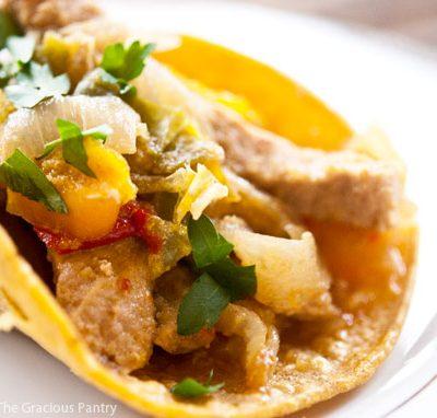 Clean Eating Pork Fajitas Recipe